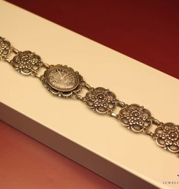 Zilveren Vintage dames horloge Rival
