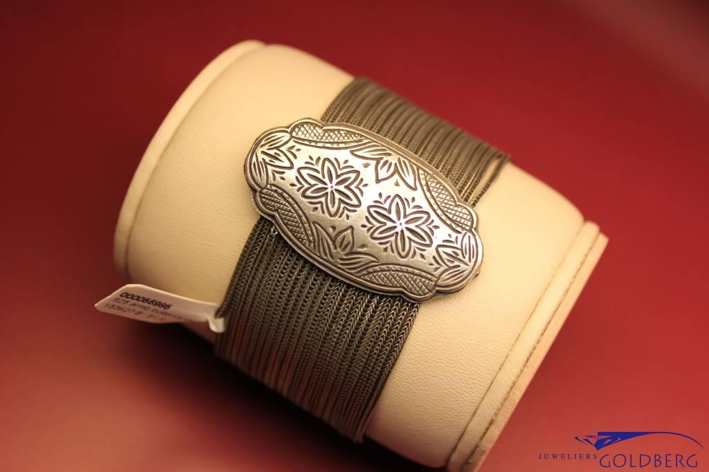 Wide vintage silver bracelet