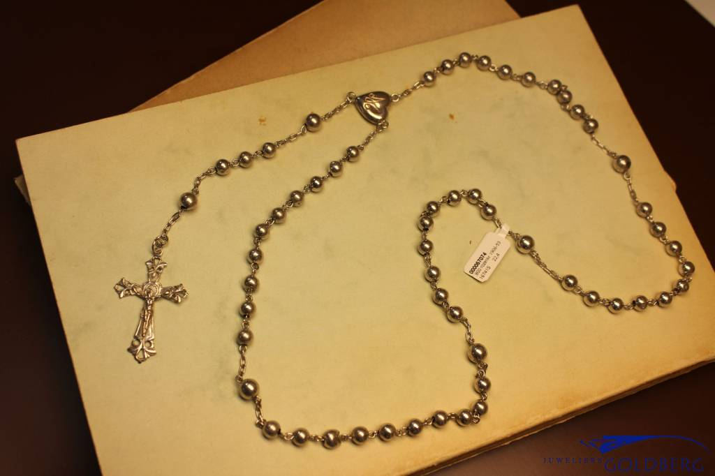 Vintage silver rosary 1906-1953