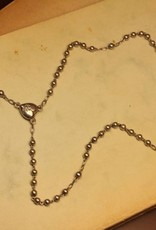 Antique silver rosary 1924-1947 small