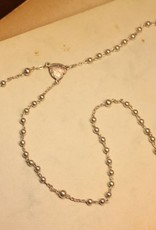 Vintage silver rosary post 1956 (small)