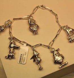 """Silver charm bracelet """"Fabeltjeskrant"""""""