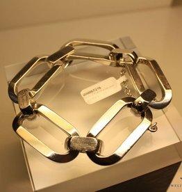 Zilveren grove schakel armband