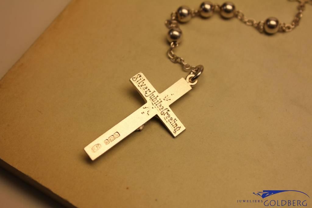 Antique silver rosary Birmingham 1907-1908