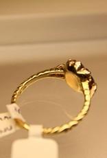 14 carat gold vintage ring with rose cut diamonds