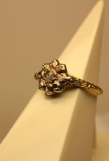 14 carat gold vintage ring with rose cut diamonds