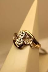 18k ring (Frankrijk) met diamant