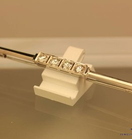 antique white gold Art Deco brooch 0.80ct diamond