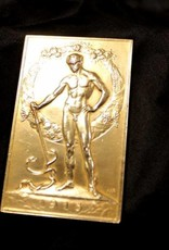 Antique gold medal stock exchange association Amsterdam 1913