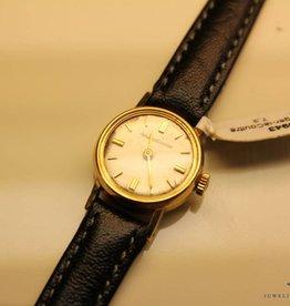 Vintage gouden Jaeger leCoultre 18mm dameshorloge
