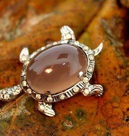 zilveren antieke schildpad broche ca. jaren '20