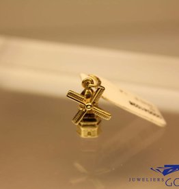 14k gouden kleine windmolen bedel