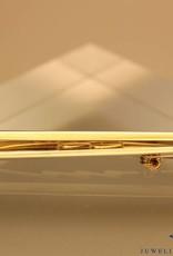 18 carat gold bicolor LeChic brooch