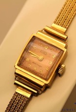 vintage 18 carat gold ladies watch from Sinex with 14 carat gold bracelet