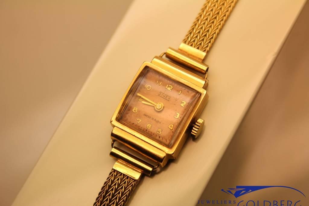 18k gouden Sinex vintage dames horloge met 14k gouden band