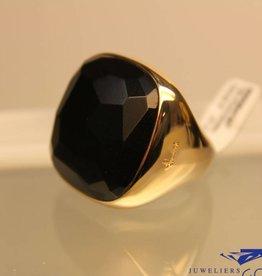 18k gouden Pomellato vierkante git ring Victoria collection