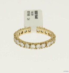 14k gold alliance ring with zirconia