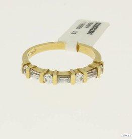 Vintage 18k alliance ring met zirconia's