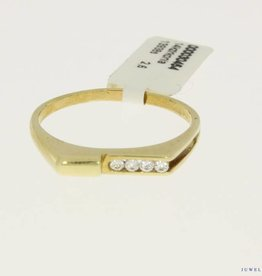 vintage 14k gold men's ring with four zirconia's