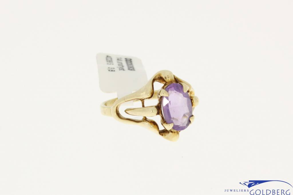 vintage 14k gold ring with amethyst