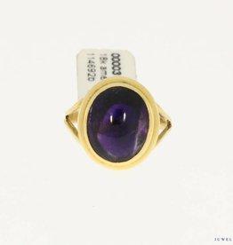 vintage 18k gold ring amethyst