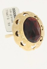 vintage 14k golden ring garnet