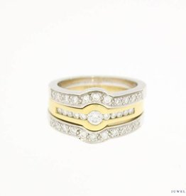 Bicolor gouden Promises ring combinatie 0.68ct diamant