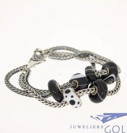 """Trollbeads Zilver & zwart-wit """"Ready to wear"""" armband"""