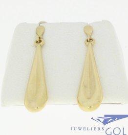 Long slim 14k gold vintage earrings