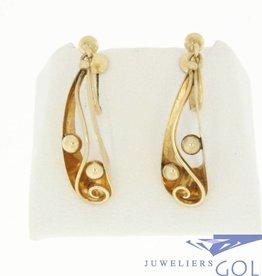 vintage 14k gouden oorhangers met klemmen