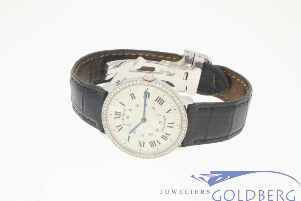 Cartier Mecanique 2335 white gold with diamonds