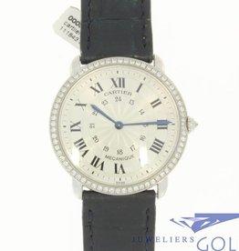 Cartier Mecanique 2335 witgoud met briljant