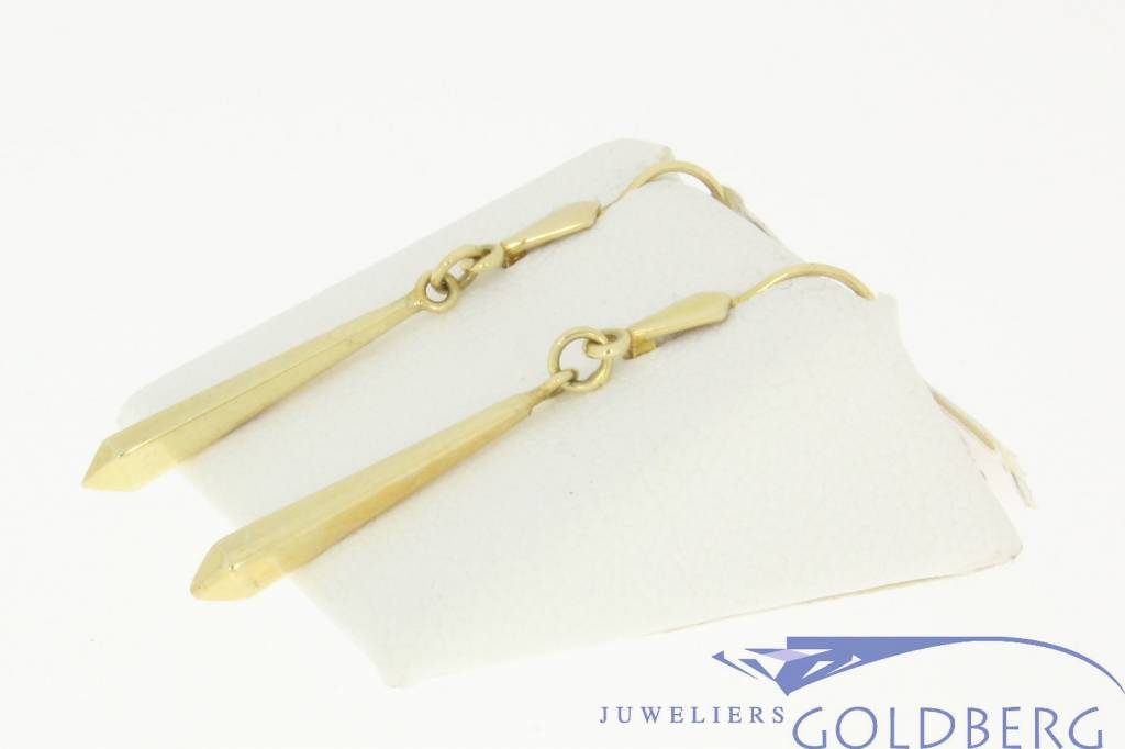 nice vintage gold spear drop earrings