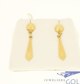 vintage 18k gold earrings