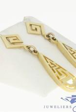 vintage 14k gold earrings in greek style