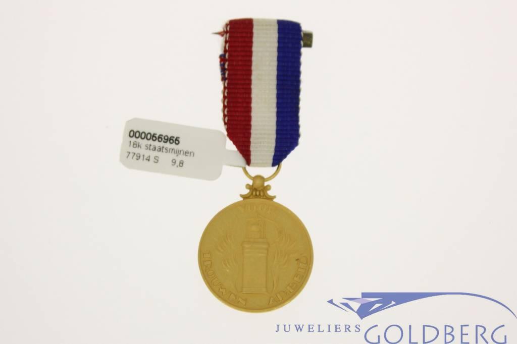 De Staatsmijnen gouden penning voor Trouwen Arbeid
