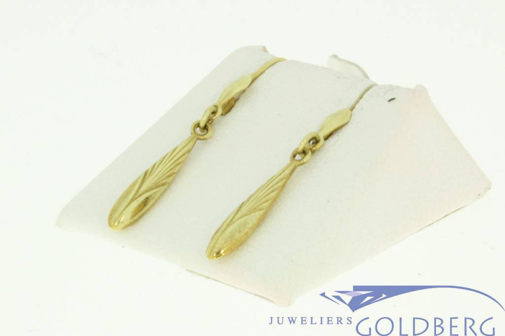 vintage 14k yellow gold earrings