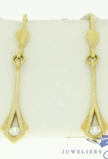 gracefully vintage 14k gold earrings with zirconia