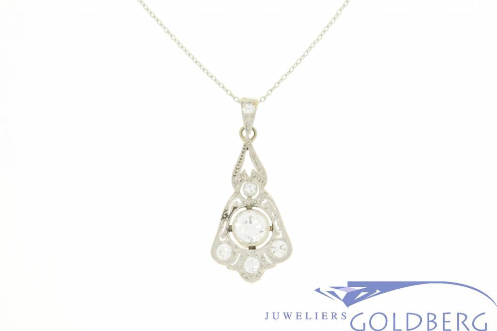 Platinum art deco pendant from the 1920s with diamonds goldberg platinum art deco pendant from the 1920s with diamonds aloadofball Images