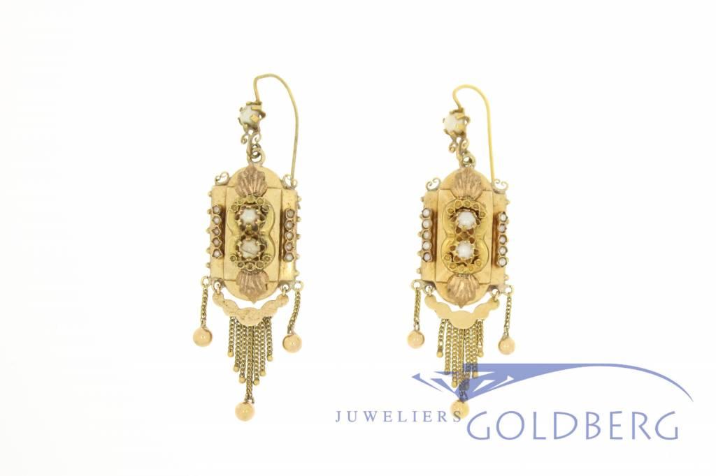 Antique Flemish 18k gold Demi-Parure 1870-1890