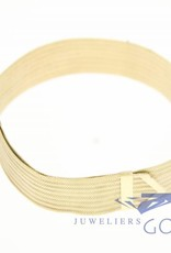 """14k gold milanese """"slide"""" bracelet"""