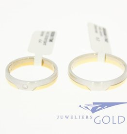 Desiree gouden Trouwringen set 14k bicolor