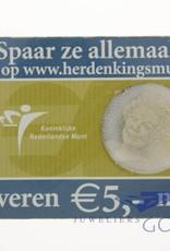 Silver Dutch 5 Euro coin 2006
