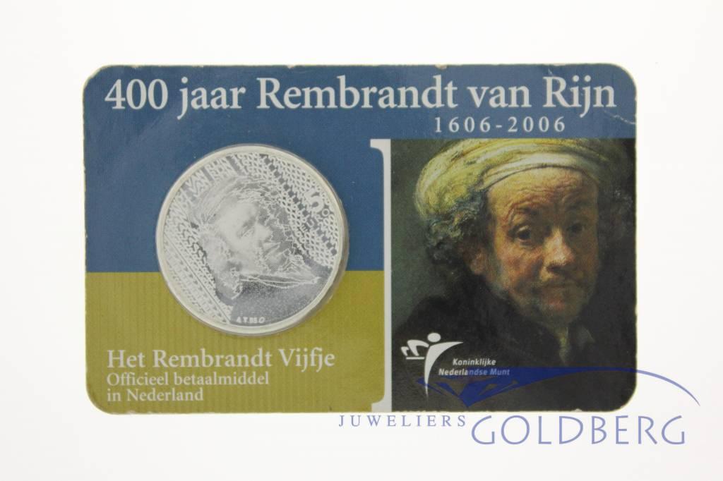 400 jaar Rembrandt van Rijn zilveren vijfje