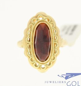 vintage beautiful 14k gold ring with garnet