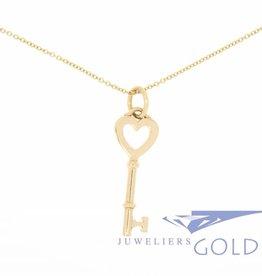 Vintage Tiffany & Co. 18k gouden ketting met sleutel