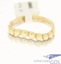 vintage 14k gold ring in white en yellow gold