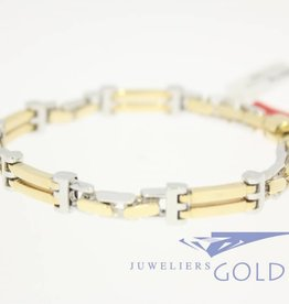 14 carat gold men's bracelet (bicolor)
