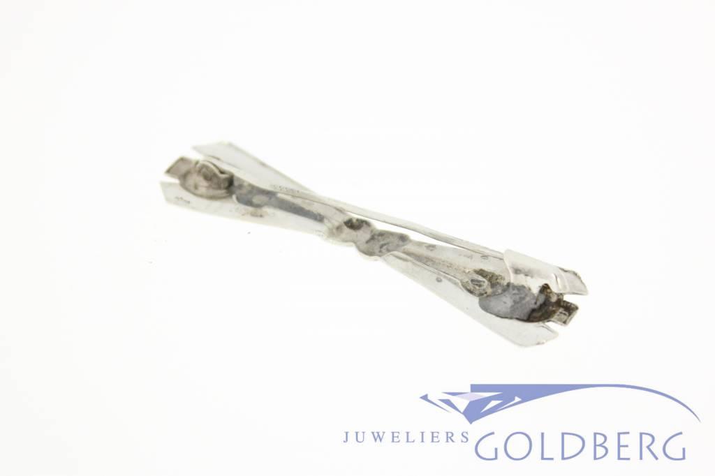 Antieke zilveren broche Leeuw den Bouter