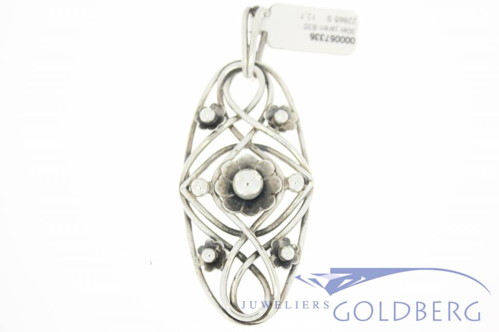 Handmade silver pendant 1930's